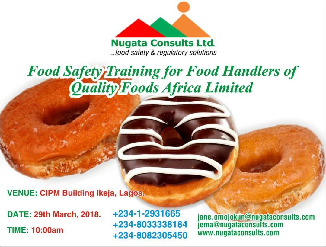 Food Safety Training for Food Handlers of Quality Foods Africa Limited